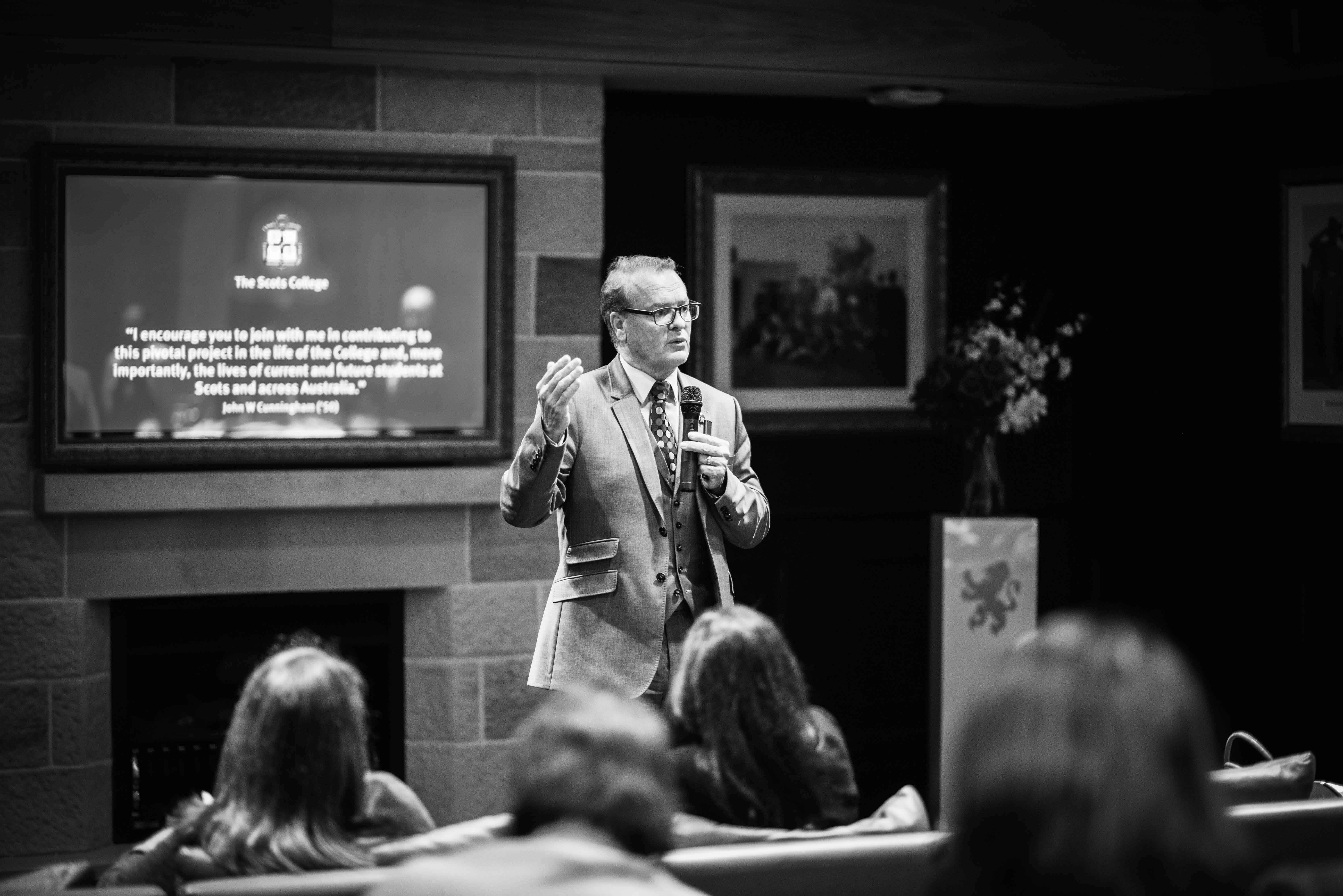 Dr Lambert speaking Patribus